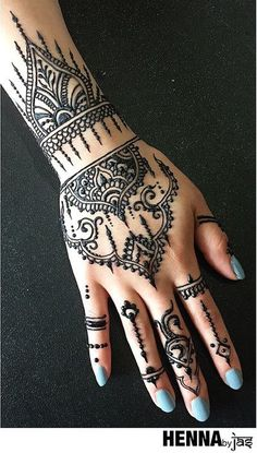 Mehndi Maharani 2015 Finalist: Henna By Jas 2015 Mehndi Maharani Finalist: Henna By Jas Mehndi Designs, Wedding Henna Designs, Henna Hand Designs, Beautiful Henna Designs, Mehndi Patterns, Henna Tattoo Designs, Beautiful Mehndi, Design Tattoos, Henna Tattoos