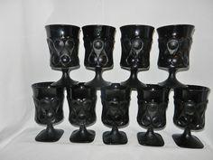 7857754ce70 Vintage Noritake Black Spotlight Ice Tea or Water and Wine Glasses