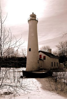 Sturgeon Point Lighthouse, Lake Michigan.