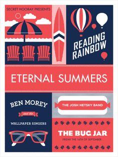 #houseofdesign | Eternal Summers Gig Poster