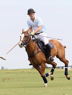 Prince Harry polo match - horse     you can come play polo with me any day ;D