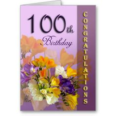 >>>Best          	Floral 100th Birthday Congratulations Card           	Floral 100th Birthday Congratulations Card lowest price for you. In addition you can compare price with another store and read helpful reviews. BuyReview          	Floral 100th Birthday Congratulations Card Review from Ass...Cleck See More >>> http://www.zazzle.com/floral_100th_birthday_congratulations_card-137695916487245766?rf=238627982471231924&zbar=1&tc=terrest