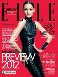 Brazilian model Bruna Tenorio photographed by Dudu Mendez as the cover girl of the fashion magazine Elle Brazil for the January 2012 issue. Fashion Magazine Cover, Fashion Cover, Magazine Covers, High Fashion Photography, Editorial Photography, Lifestyle Photography, Vestidos Fashion, Dior, Vogue Spain