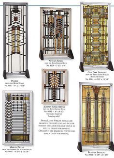 Frank Lloyd Wright Stained Glass Designs 2