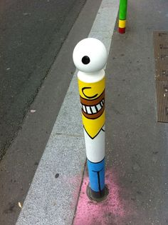 #lecyklop, #streetart, #homer #simpson