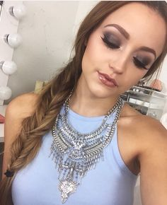 This necklace! (And this makeup) Love it!