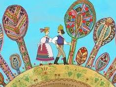 "Distinctive folk art abounded in the very ""Hungarian Folk Tales"" such as The Talking Grape, the Smiling Apple, the Trinkling Peach (Magyar népmesék / Szóló szőlő, mosolygó alma, csengő barack) Anima Mundi, Aesthetic Images, My Heritage, Children's Book Illustration, Whimsical Art, Art And Architecture, Digimon, Folk Art, Fairy Tales"