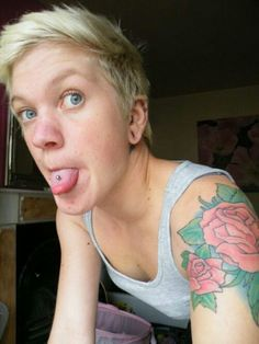 Tattooed paramour buns licked