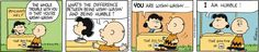 Be Humble today #Peanuts #LucySays @GoComics from Universal Uclick