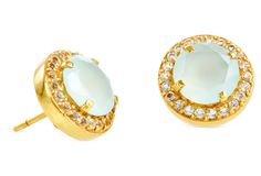 One Kings Lane - Gifts for Her - Aqua Pave Studs