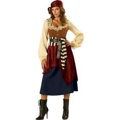 Buccaneer Beauty Adult Pirate Costume