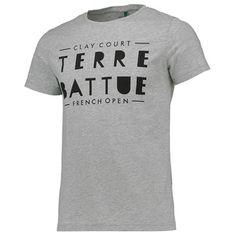 T-shirt visuel Terre Battue Roland-Garros - Homme - Gris chiné
