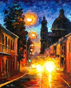 A TIME WHEN THE CITY SLEEPS - PALETTE KNIFE Oil Painting On Canvas By Leonid Afremov http://afremov.com/A-TIME-WHEN-THE-CITY-SLEEPS-PALETTE-KNIFE-Oil-Painting-On-Canvas-By-Leonid-Afremov-Size-24-x30.html?bid=1&partner=20921&utm_medium=/vpin&utm_campaign=v-ADD-YOUR&utm_source=s-vpin