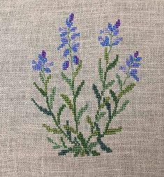 I finished this Common Milkwort a couple days ago and really love the blue and purple against the muted greens and greys.   From Gerda Bengt...