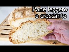 Pane leggero e croccante in 6 ore - YouTube Sourdough Recipes, Sourdough Bread, Cold Cuts, Brewers Yeast, Bread N Butter, Ciabatta, Food And Drink, Cooking Recipes, Sandwiches