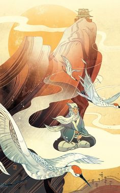"""Once Upon A Blog...: Victo Ngai's Gorgeous Illustrations for Folio Society's """"Chinese Fairy Tales & Fantasies"""""""