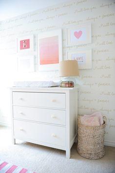 White and pink girls nursery
