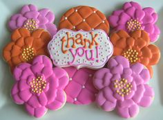 Thank You Get Well Happy Birthday Flower by DolceDesserts on Etsy