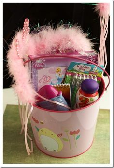 Easter baskets can be so much fun to put together for your kids! This year for Easter, Amy and I decided to have a No-Candy Easter Basket policy at b
