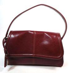 Liz Claiborne Maroon Hobo Handbag Holiday Purse #LizClaiborne #Hobo #ebayROCteam