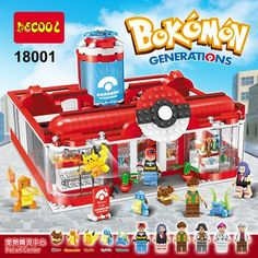 47.50$  Buy here - http://aisbc.worlditems.win/all/product.php?id=32761066750 - Super Heroes Bokemon Pikachu Generations Medical Center Building Blocks Figures Bricks Figures Toys for children Decool 18001