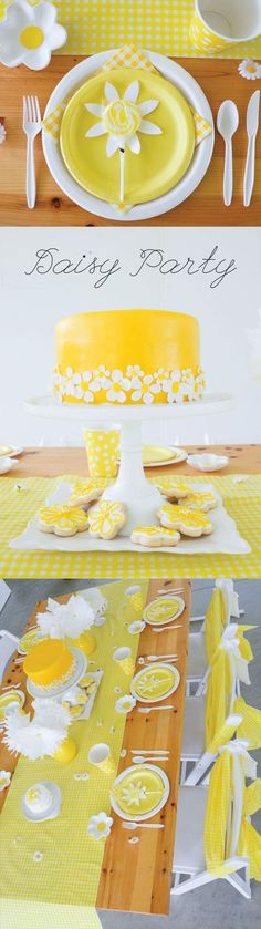 Daisy Party Ideas by Lindi Haws of Love The Day: