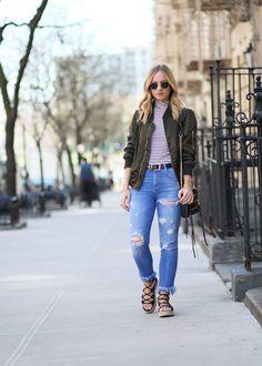 Favorite Bomber Jackets for Spring   http://ithinkthereforeidress.com/blog/spring-bomber-jackets   I Think, Therefore I Dress #springstyle #bomberjackets