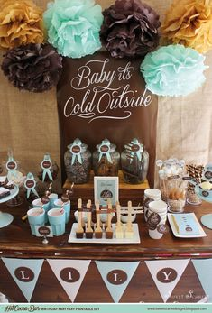 HOT COCOA BAR Birthday imprimible seleciona por SweetScarletDesigns