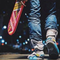 Nostalgia on shoes..loving Nike effort to bring this to the future #BackToFutureYear2015