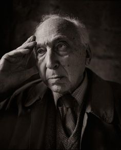 Portrait of photographer André Kertész, Paris, 1982. Photographed by Master photographer, Michael Somoroff.