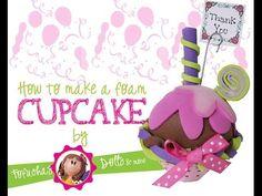 How to make a foam cupcake Part 1