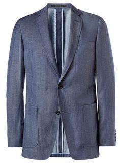 Slim-fit unstructured wool-and-linen blend blazer -by Richard James Mens Sport Coat, Sport Coats, Sharp Dressed Man, Blazers For Men, Suit And Tie, Style Guides, Men Dress, Menswear, Slim