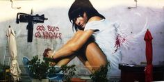 God save us vandals! Brilliant work by Neve from Italy. Check out http://globalstreetart.com/neve for more great photos!