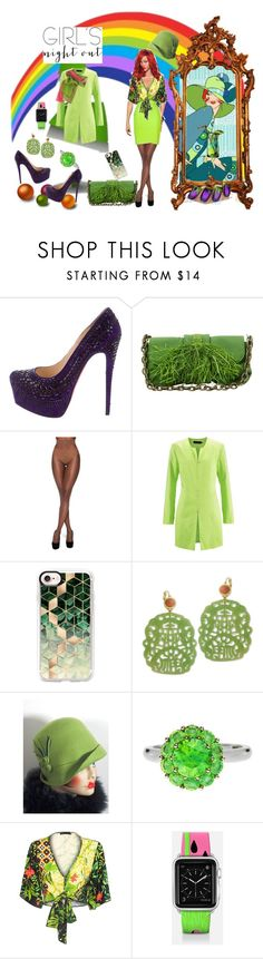 """My BFF's Will be green with envy"" by bluehatter ❤ liked on Polyvore featuring Christian Louboutin, Lanvin, Nubian Skin, Casetify, Kenneth Jay Lane, Color My Life and girlsnightout"