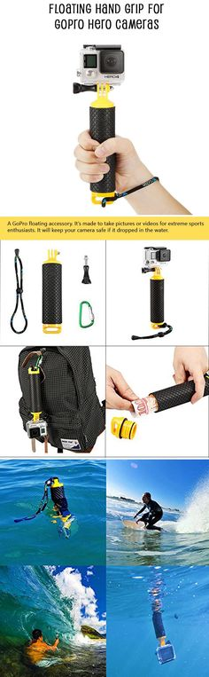 A floating hand grip for your GoPro camera.