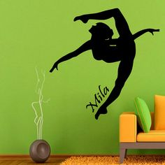Sport Wall Decals Girl Gymnast Personalized by WallDecalswithLove