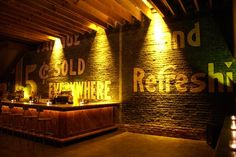 Basement Bar Wall Idea - A definite different basement wall idea instead of just trying to extend the house. 20 Clever and Cool Basement Wall Ideas, http://hative.com/basement-wall-ideas/,