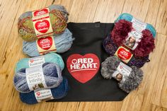 Enter to win the Wonderful Red Heart Yarn Medley! One lucky winner will receive 2 balls of Medley yarn, 2 balls of Fur yarn, 2 balls of Boulevard yarn, 2 balls of Infinity yarn, 2 balls of Grande Metallic yarn, and 1 Red Heart tote bag. The deadline to enter is March 31, 2016 at 11:59:59 p.m. Eastern Time.
