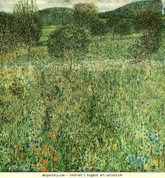 Gustav Klimt. Flowering Field. Olga's Gallery.  love how he flattens the perspective to see it all as surface