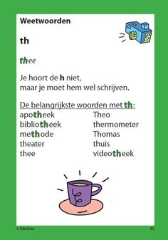 Learning Dutch - words spelled with ~th~ but pronounced with the ~h~ silent Speech Language Therapy, Speech And Language, Learn Dutch, Dutch Words, Dutch Language, Teacher Inspiration, School Items, Language Lessons, English Literature