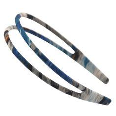 Handmade Cloth Art Hair Clasp Headband Double Row Hair Decor HairBand Navy *** Continue to the product at the image link.