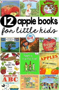 Every single year I always do a week filled with hands-on apple activities. During this time I am always incorporating apple books into math, science, social studies, and carpet time. Here are my favorite apple books. via @dabofgluewilldo