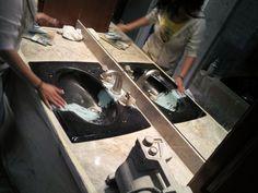 Vitreous china antique sink repair