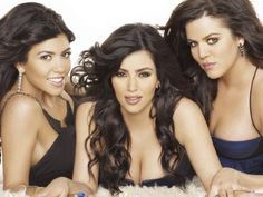 Kourtney, Kim and Khloe Kardashian in the early days of Keeping Up with the Kardashians. Picture: Supplied