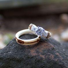 The Antlered Doe Deer Antler Jewelry, Deer Antler Ring, Deer Antlers, Sunflower Ring, Plan My Wedding, Wedding Ideas, Eye Jewelry, Wood Rings, Live