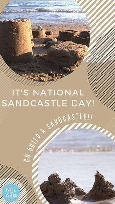 Go build a castle at the nearest beach #newsmyrnabeach #daytonabeach Ocean Crafts, Sand Crafts, New Smyrna Beach, Days Of The Year, Daytona Beach, Castle, Photo And Video, Building, Water