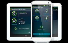 Android tablet and phone with AntiVirus FREE UI