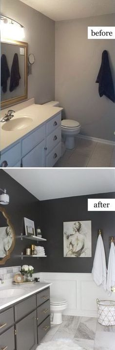 Are you searching for bathroom remodel and inspiration? Browse our photo gallery bathroom ideas and selection of bathroom tile ideas . Find and save ideas about bathroom vanity in this article. | See more ideas about bathroom love, Easy bathroom updates and bathroom remodel. Read more » #bathroom #remodel #onabudget #renovation