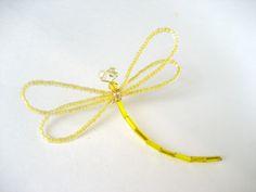 Stacie Tamaki Creative Consultant - Yellow Beaded Dragonflies