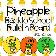 Welcome yoursweet new students with this adorable {Editable} Pineapple Back to School Board!What's included: Editable Assortment of Pineapples to personalize with your students' names Grade-specific Bulletin Board Headers {Kinder - 5th grade}** Please note: you MUST have PowerPoint to edit the names **Using this resource is easy!